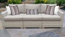 Fairmont 3 Piece Outdoor Wicker Patio Furniture Set 03c - TK Classics