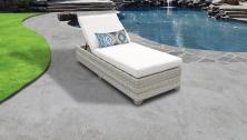 Fairmont Chaise Outdoor Wicker Patio Furniture - TK Classics