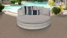Fairmont Circular Sun Bed - Outdoor Wicker Patio Furniture - TK Classics
