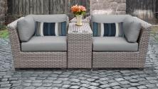 Florence 3 Piece Outdoor Wicker Patio Furniture Set 03b - TK Classics