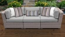 Florence 3 Piece Outdoor Wicker Patio Furniture Set 03c - TK Classics