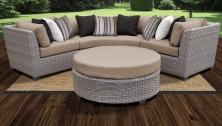 Florence 4 Piece Outdoor Wicker Patio Furniture Set 04a - TK Classics