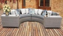 Florence 4 Piece Outdoor Wicker Patio Furniture Set 04c - TK Classics