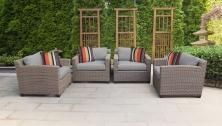 Florence 4 Piece Outdoor Wicker Patio Furniture Set 04i - TK Classics