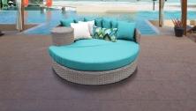 Florence Circular Sun Bed - Outdoor Wicker Patio Furniture - TK Classics