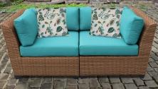 Laguna 2 Piece Outdoor Wicker Patio Furniture Set 02a - TK Classics