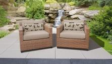 Laguna 2 Piece Outdoor Wicker Patio Furniture Set 02b - TK Classics
