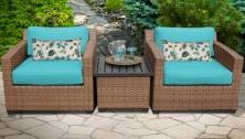 Laguna 3 Piece Outdoor Wicker Patio Furniture Set 03a - TK Classics