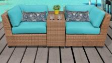 Laguna 3 Piece Outdoor Wicker Patio Furniture Set 03b - TK Classics