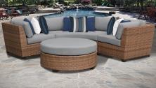 Laguna 4 Piece Outdoor Wicker Patio Furniture Set 04a - TK Classics