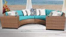 Laguna 4 Piece Outdoor Wicker Patio Furniture Set 04c - TK Classics