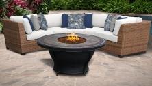 Laguna 4 Piece Outdoor Wicker Patio Furniture Set 04d - TK Classics