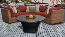 Laguna 4 Piece Outdoor Wicker Patio Furniture Set 04f - TK Classics