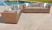Laguna 5 Piece Outdoor Wicker Patio Furniture Set 05a - TK Classics