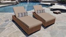 Laguna Chaise Set of 2 Outdoor Wicker Patio Furniture - TK Classics