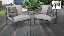 Lexington 2 Piece Outdoor Aluminum Patio Furniture Set 02b - TK Classics