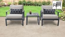 Lexington 3 Piece Outdoor Aluminum Patio Furniture Set 03a - TK Classics