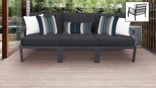 Lexington 3 Piece Outdoor Aluminum Patio Furniture Set 03c - TK Classics