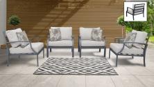 Lexington 4 Piece Outdoor Aluminum Patio Furniture Set 04g - TK Classics
