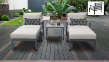 Lexington 5 Piece Outdoor Aluminum Patio Furniture Set 05b - TK Classics