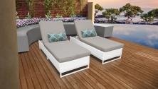 Miami Chaise Set of 2 Outdoor Wicker Patio Furniture - TK Classics