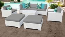 Monaco 8 Piece Outdoor Wicker Patio Furniture Set 08a - TK Classics