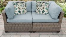 Monterey 2 Piece Outdoor Wicker Patio Furniture Set 02a - TK Classics