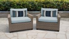 Monterey 2 Piece Outdoor Wicker Patio Furniture Set 02b - TK Classics