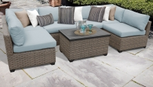 Monterey 7 Piece Outdoor Wicker Patio Furniture Set 07a - TK Classics