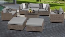 Monterey 8 Piece Outdoor Wicker Patio Furniture Set 08a - TK Classics