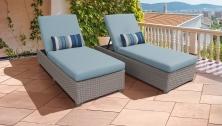 Monterey Chaise Set of 2 Outdoor Wicker Patio Furniture - TK Classics