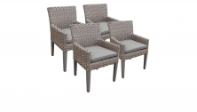4 Monterey Dining Chairs With Arms - TK Classics