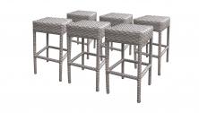 6 Monterey Backless Barstools - TK Classics