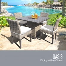 Oasis Square Dining Table with 4 Chairs - TK Classics