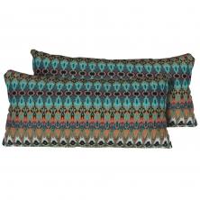 Moroccan Outdoor Throw Pillows Rectangle Set of 2 - TK Classics