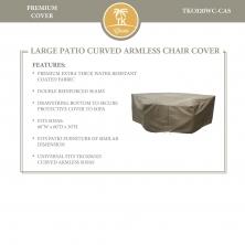 Barbados/Florence/Fairmont/Laguna Curved Armless Sofa Protective Cover - TK Classics