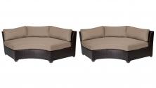 Barbados Curved Armless Sofa 2 Per Box - TK Classics