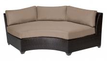 Barbados Curved Armless Sofa - TK Classics