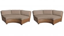 Laguna Curved Armless Sofa 2 Per Box - TK Classics