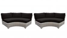 Fairmont Curved Armless Sofa 2 Per Box - TK Classics