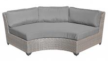 Florence Curved Armless Sofa - TK Classics