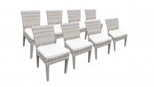 8 Fairmont Armless Dining Chairs - TK Classics