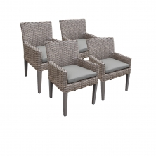 4 Oasis Dining Chairs With Arms - TK Classics