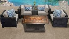 Venice 6 Piece Outdoor Wicker Patio Furniture Set 06d - TK Classics