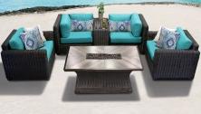 Venice 6 Piece Outdoor Wicker Patio Furniture Set 06e - TK Classics