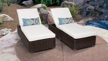 Venice Chaise Set of 2 Outdoor Wicker Patio Furniture - TK Classics