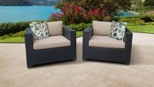Belle 2 Piece Outdoor Wicker Patio Furniture Set 02b - TK Classics